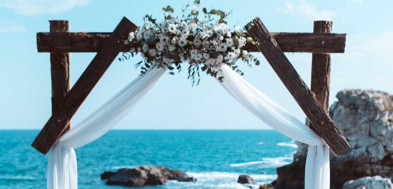 изнесен ритуал, сватба на морето